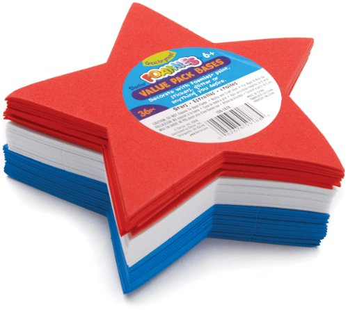 Foam Shapes 36/Pkg-Stars