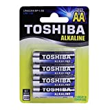 TOSHIBA AA Alkaline Batteries 1.5 volts 48 Cards BP/4 (192 Batteries)