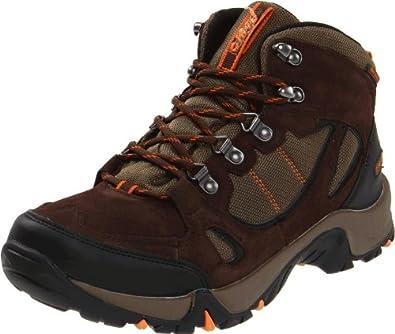 Hi-Tec Men's Falcon Waterproof Hiking Boot,Chocolate/Dark Taupe/Burnt Orange,9 W US