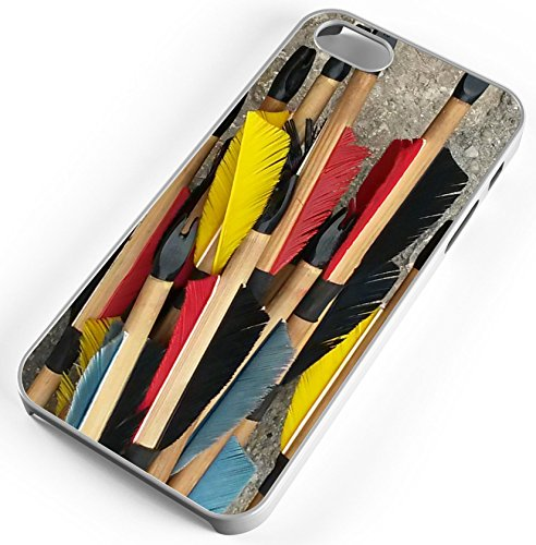 buy Wood Arrows Feathers Archery Bow Bulls Eye White Rubber Case for Apple iPhone 6+ (PLUS) for sale