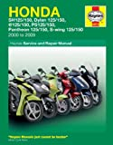 Haynes Manual for Honda 125 Scooters (SH, SES, NES, PES & FES 125) (00 - 09) Including a Free AA Microfibre Magic Mitt
