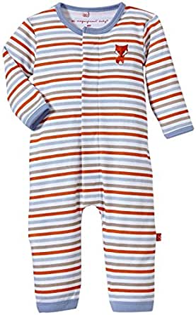 Magnificent Baby Baby-Boys Origami Stripe Long Sleeve Union Suit