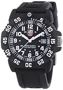 Luminox Men's A.7051 Color Mark Analog Display Swiss Quartz Black Watch
