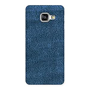 Royal Blue Cloth Print Back Case Cover for Galaxy A3 2016