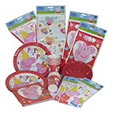 Peppa Pig Party Pack - Plates, Napkins, Cups, Party Bags, Tablecover