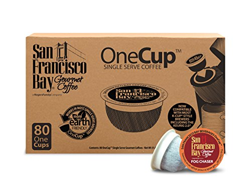 San Francisco Bay OneCup, Fog Chaser, 80 Single Serve Coffees (San Francisco Bay Keurig Coffee compare prices)