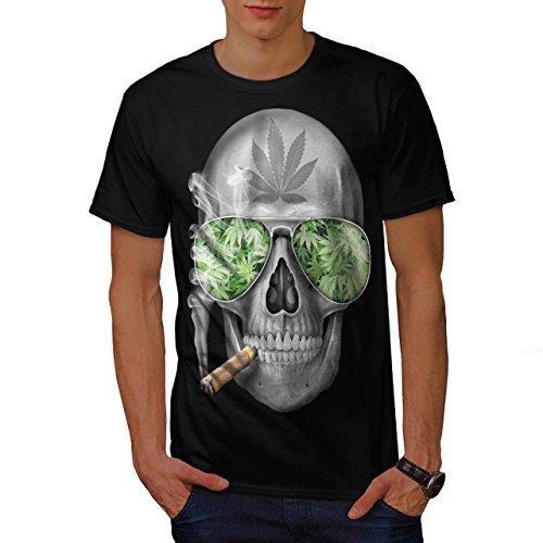 skeleton-smoke-weed-cool-skull-men-new-black-m-t-shirt-wellcoda