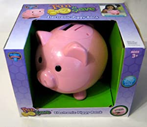 Blue hat fun to save electronic piggy bank for How to make a piggy bank you can t open