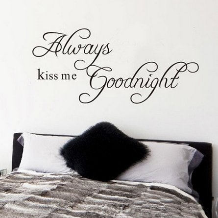 Newsee Decals DIY Always Kiss Me Goodnight Quote Decal Removable Art Wall Sticker Home Decor