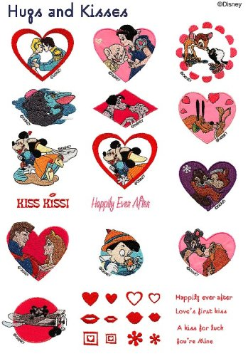 "Best Price Brother SA312D ""Hugs and Kisses"" Disney Embroidery Card"