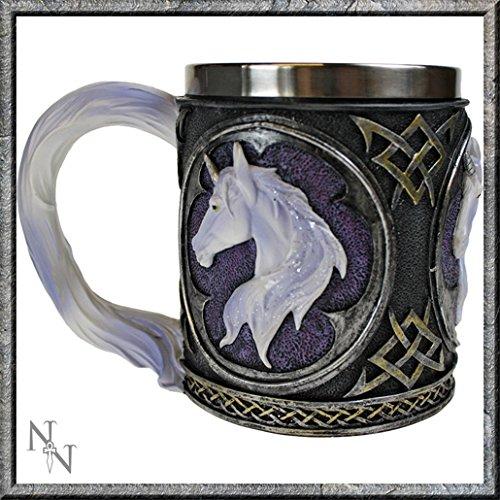 Nemesis Now-Boccale da birra, tema: gotico/Fantasy/unicorno Legends Wicca Calice da vino