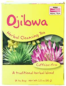 Now Foods Tea Bags, Ojibwa, 24 Count