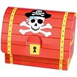 Amsan - 8 coffres au Trésor en carton pour les petits pirates