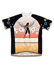 Angle Wings Short Sleeve Cycling Jersey for Women