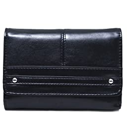 Travelsky 13587 RFID Blocking Womens Palm Clutch Wallet (black)