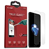 iCarez [Tempered Glass] Screen Protector for iPhone 7 Highest Quality Easy Install [ 2Pack 0.33MM 9H 2.5D] with Lifetime Replacement Warranty - Retail Packaging