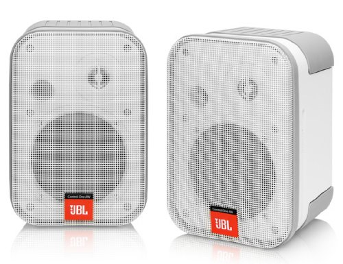 Leviton Aeaws-C1W Architectural Edition Powered By Jbl Outdoor Loudspeakers, White, 1-Pair
