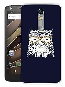 "Humor Gang Stoned Owl Printed Designer Mobile Back Cover For ""Motorola Moto X Force"" (3D, Matte, Premium Quality Snap On Case)"