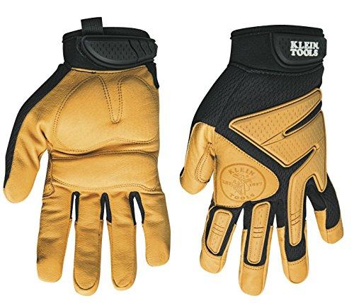 Klein Tools 40221 Journeyman Leather Gloves, Large