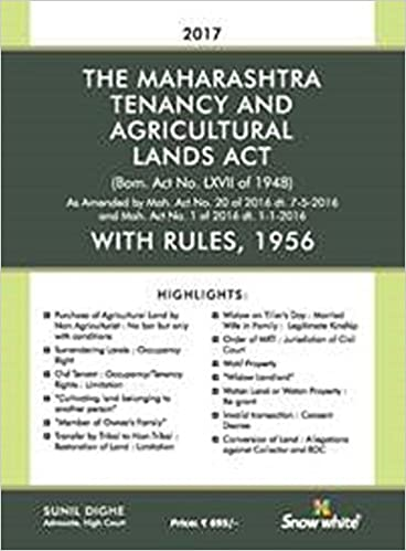 THE MAHARASHTRA TENANCY AND AGRICULTURAL LANDS ACT WITH RULES 1956