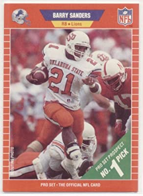 1989 Pro Set # 494 Barry Sanders RC - Detroit Lions Rookie Football Card Shipped In Protective Display Case!