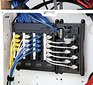 Leviton 476TL-T12 Telephone Input Distribution Panel, Black Housing (Color: Black)