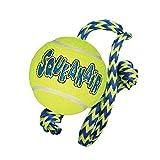 KONG Squeakair Tennis Ball with Rope Dog Toy, Medium, Yellow