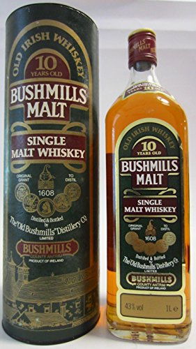 Old Bushmills - Single Malt (old bottling) 10 year old