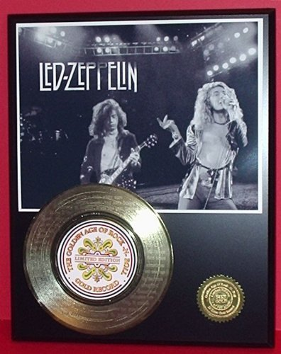 """Led Zeppelin """"Stairway To Heaven"""" 24Kt Gold 45 Record Ltd Edition Display Laser Etched W/ Lyrics"""