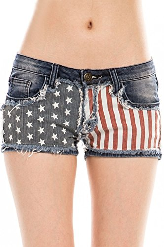 Machine Women's Liberty Low Rise Denim Shorts