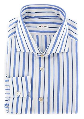 new-kiton-blue-striped-slim-shirt