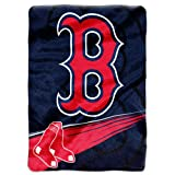MLB Boston Red Sox Speed Plush Raschel Throw Blanket, 60x80-Inch at Amazon.com