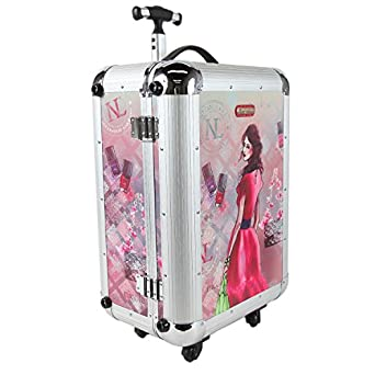Nicole Lee Priscilla 21 Inch Rolling Aluminum Case Carry-On, Daisy, One Size