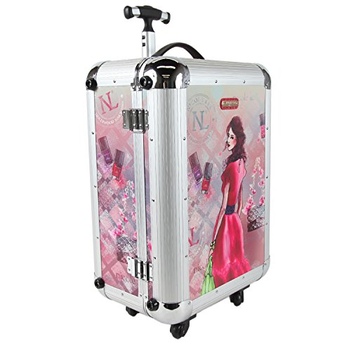 nicole-lee-priscilla-21-inch-rolling-aluminum-case-carry-on-daisy-one-size