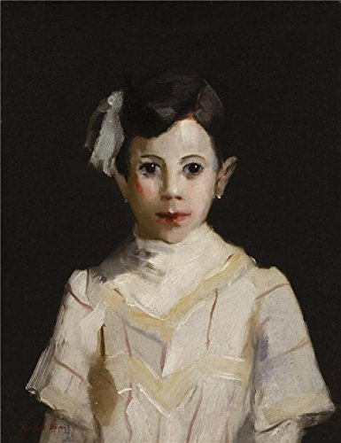 Perfect Effect Canvas ,the Reproductions Art Decorative Prints On Canvas Of Oil Painting 'Randall Davey,Spanish Child In White,ca.1912', 18x23 Inch / 46x59 Cm Is Best For Gym Gallery Art And Home Decoration And Gifts