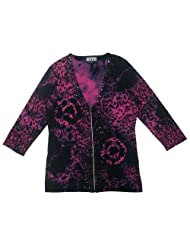 printed Cardigan Sweater embellished X Large
