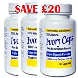 Ivory Caps Skin Lightening Whitening Pill Ivorycaps Glutathione Pills 1500MG Thistle (Pack of 3), 30Day Money Back Gauranteeby IvoryCaps.co.uk