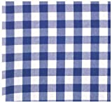 "100% Cotton Blue & White Check 54""x90"" Tablecloth - Picnic Blue"