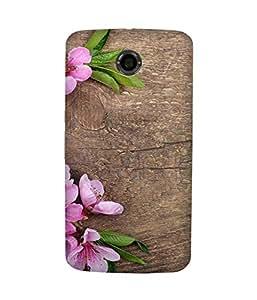 Pink And Wood Motorola Nexus 6 Case