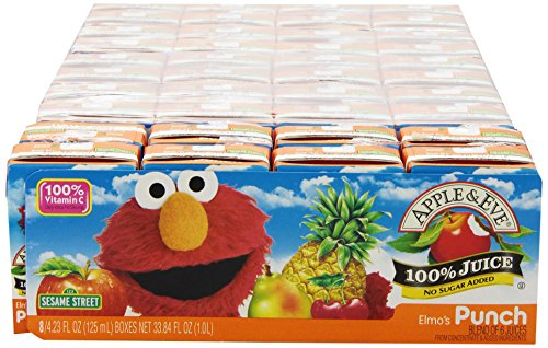 Apple & Eve Sesame Street Elmo'S Punch, 8- 4.23Fl.Oz Count (Pack Of 5) front-578830