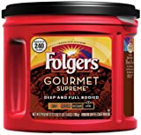 Folgers Gourmet Supreme Ground Coffee, Deep & Full Bodied, Dark Roast, 27.8-Ounce Packages (Pack of 3)