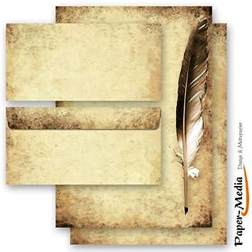 Motiv-Briefpapier-Set MOHNBLUMEN 200-tlg DL ohne Fenster Set