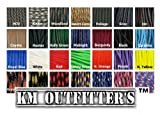 KM Outfitters® (5ft,10ft,25ft,50ft,100ft) Type III Mil-Spec 550 Paracord