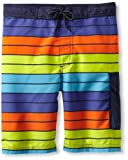 Kitestrings Boys 8-20 Stripe Microfiber Swim Trunk