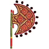 Show Kart Home Decor Handicrafts | Home Decor Gifts | Home Decorative Items In Living Room, Bedroom | Kutch Gujarati Art Work Ethnic Colorful Hand Fan - B073PXMPQC