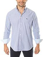 VICKERS Camisa Hombre Harvard (Azul Marino / Blanco)