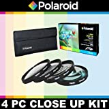Polaroid Optics 4 Piece Close Up Filter Set (+1, +2, +4, +10) For The Canon XH-G1S, XH-A1S Camcorder