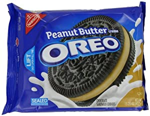 Oreo Peanut Butter Crème Oreo Cookie, 15.25-Ounce (Pack of 4)