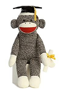 "1 X Graduation Sock Monkey 12"" by Aurora"