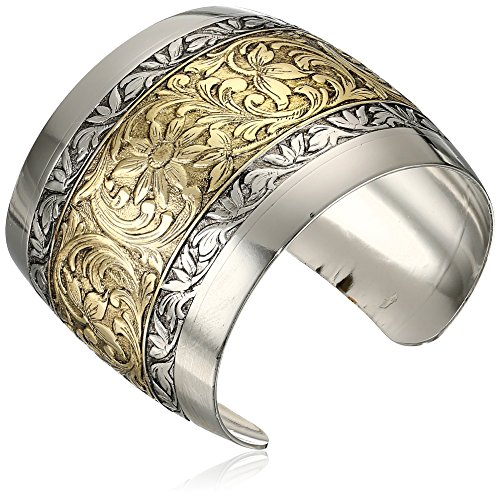 """1928 Jewelry Prominence Silver-Tone And Gold-Tone Cuff Bracelet, 7"""""""